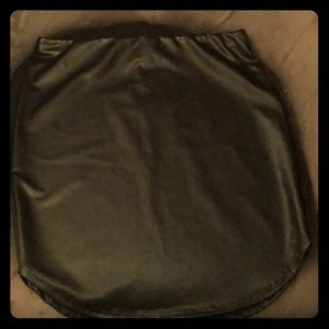 Faux leather black skirt NWT